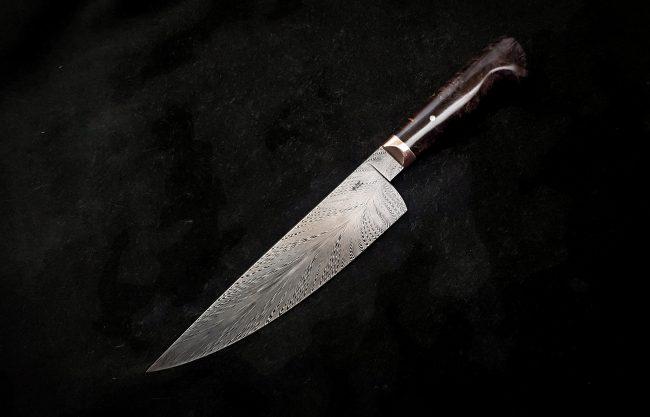 Damascus Chef Knife scaled