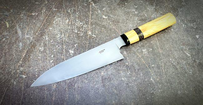 Chef Knife Olive Wood Handle Knife scaled