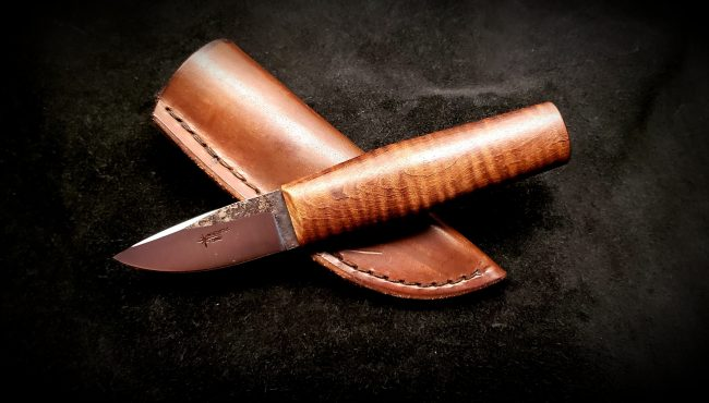 Nordic Hunter Curly Maple Knife 1 scaled